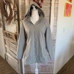 ZeroXposur Jacket Gray Zipper Hooded Large